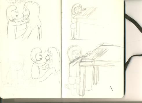 Sketches from my new soon comic x